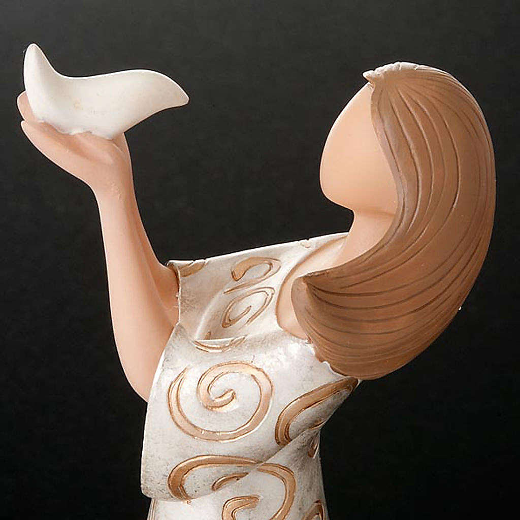 Friendship figurine woman with dove Legacy of Love 4