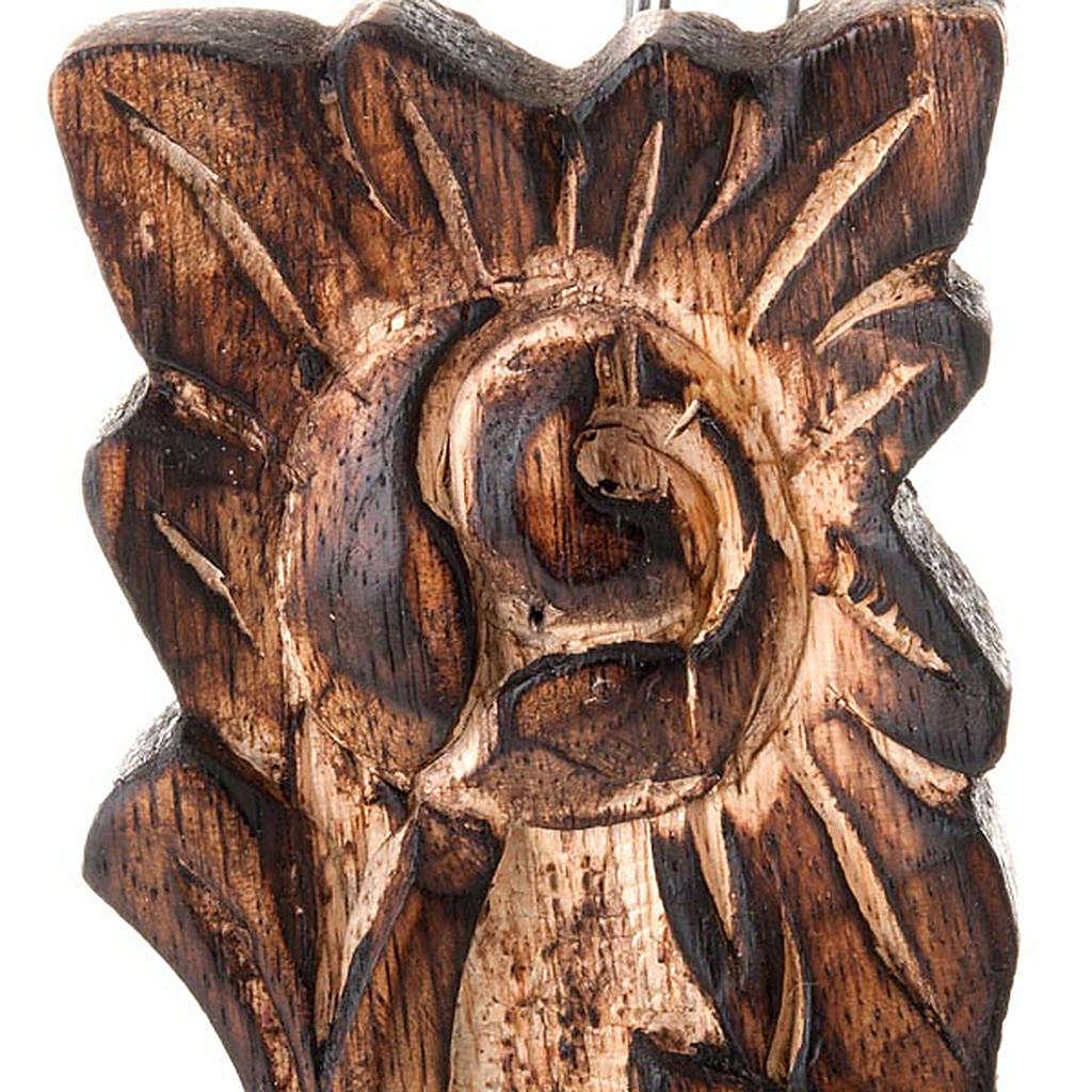 Crucifix in sculpted wood 4