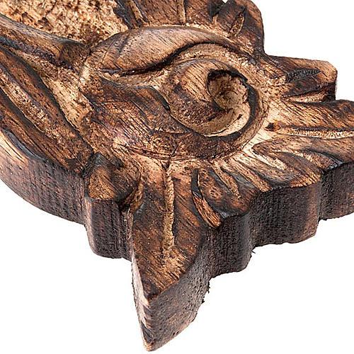 Crucifix in sculpted wood 2