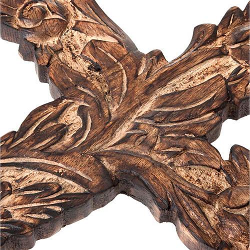 Crucifix in sculpted wood 3