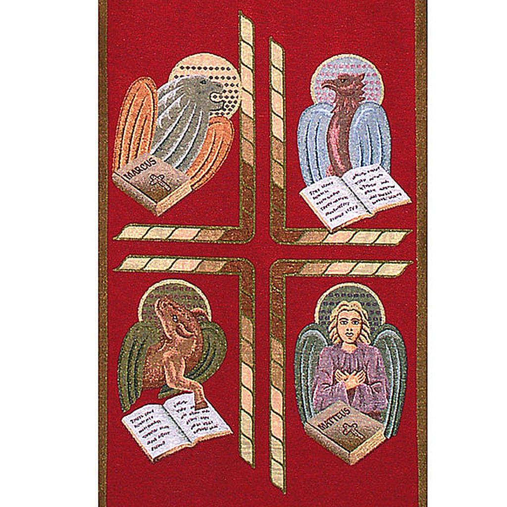 Paño de atril 4 evangelistas- fondo varios colores 4