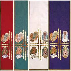 Paño de atril 4 evangelistas- fondo varios colores s1