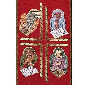 Paño de atril 4 evangelistas- fondo varios colores s5