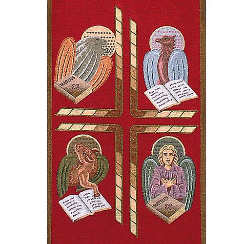 Paño de atril 4 evangelistas- fondo varios colores 5