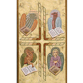 Voile de lutrin 4 évangélistes, fond or maculé s2