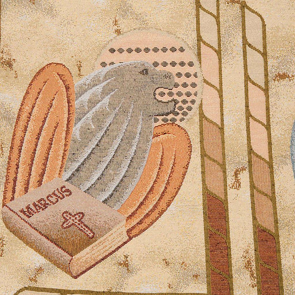 Pano ambão 4 evangelistas fundo ouro marmorato 4