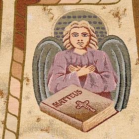 Pano ambão 4 evangelistas fundo ouro marmorato s4