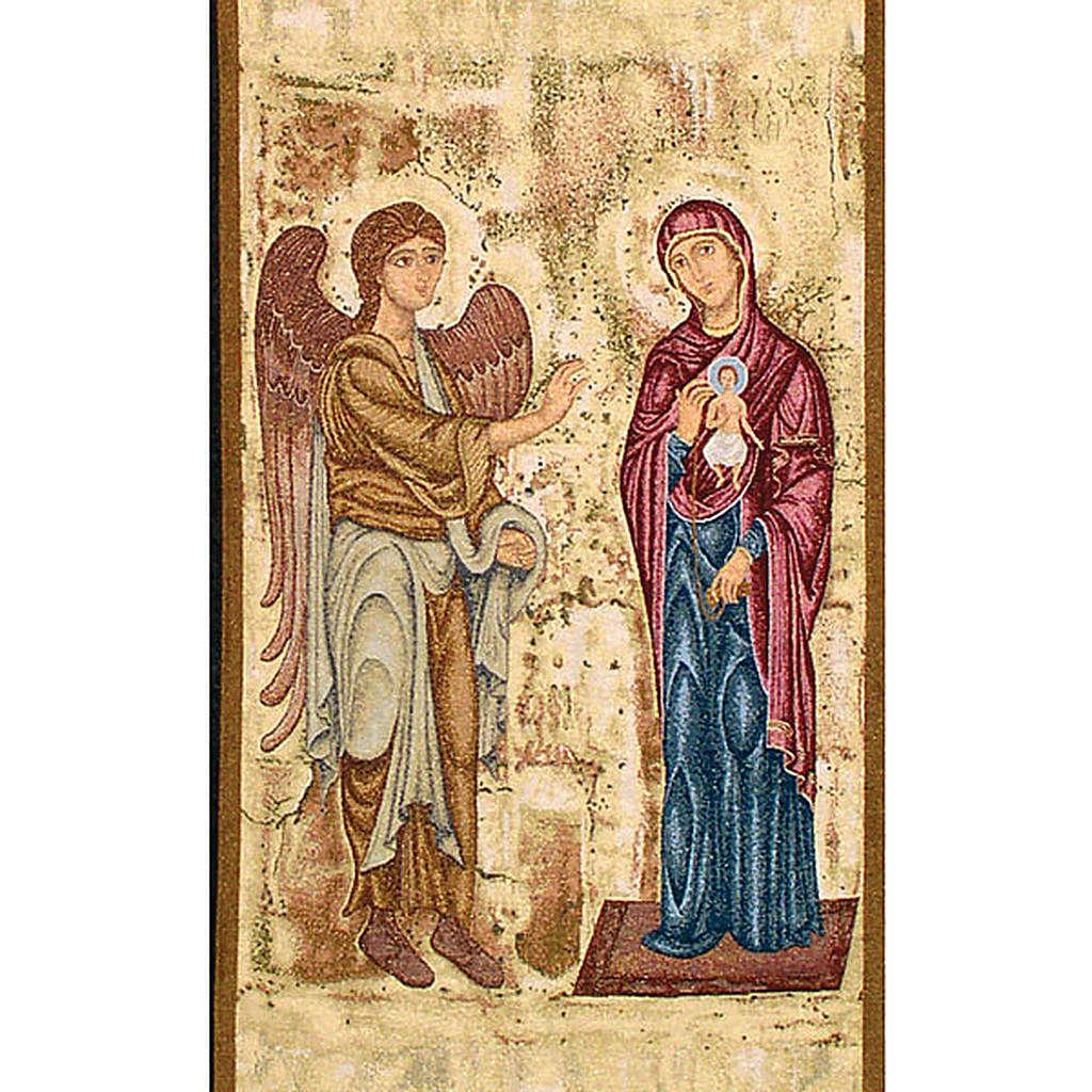 Paño de atril. Anunciación - fondo oro maculado 4