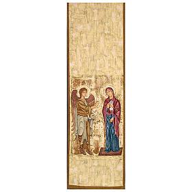 Pano ambão Anunciação fundo ouro marmorato s1