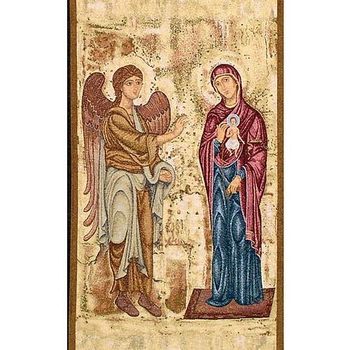 Pano ambão Anunciação fundo ouro marmorato 2