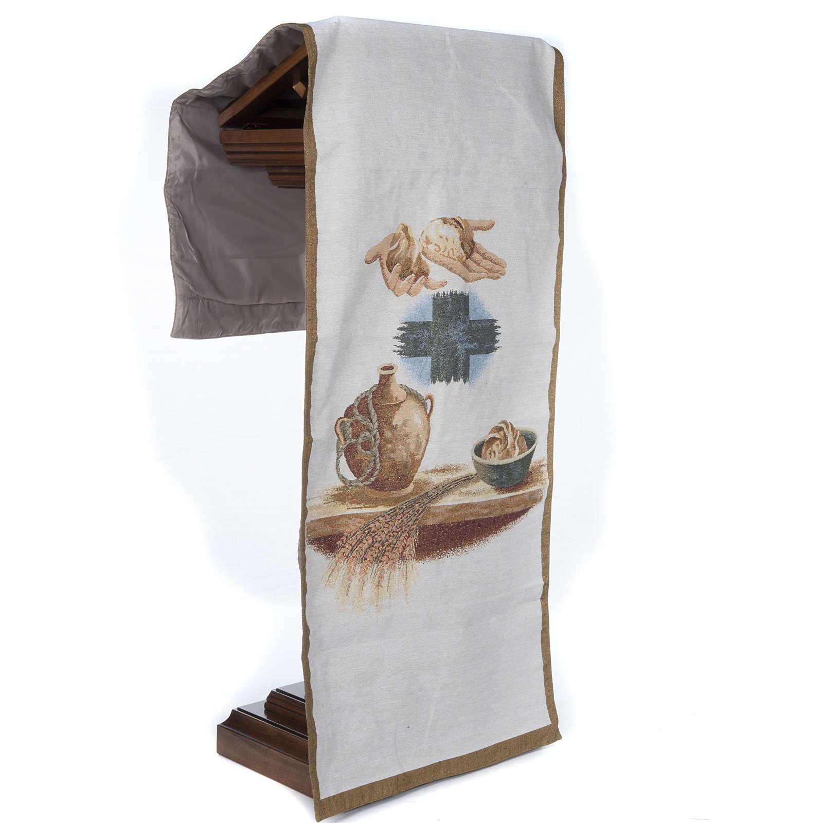 Lectern cover amphora bread cross 4