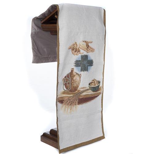 Lectern cover amphora bread cross 5
