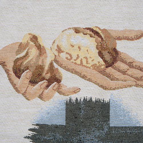 Voile de lutrin amphore, pain, croix 2