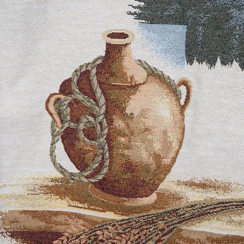 Voile de lutrin amphore, pain, croix 3
