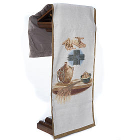 Pulpit cover with amphora bread cross s5