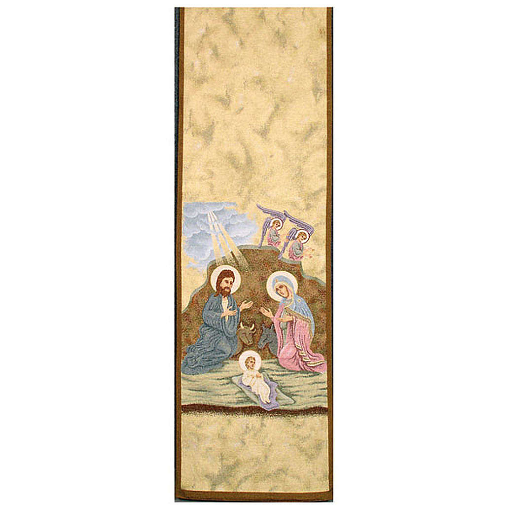 Lectern cover, Nativity and Angels 4