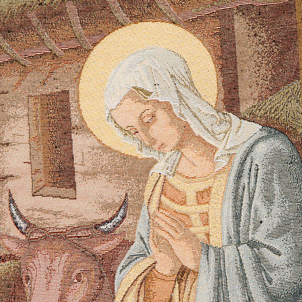 Lectern cover, Nativity and stable gold background 4
