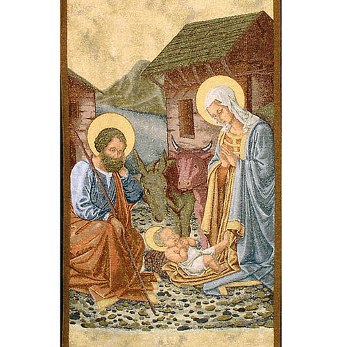 Lectern cover, Nativity and stable gold background 2