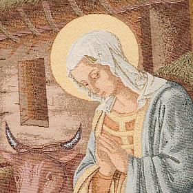 Coprileggio Natività con capanna sfondo oro maculato s5