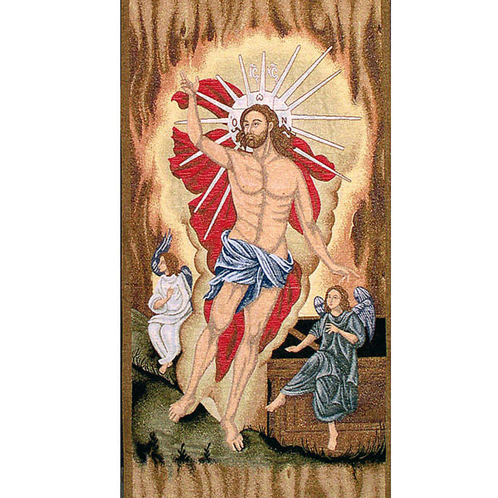 Lectern cover, Resurrection of Christ and angels 4