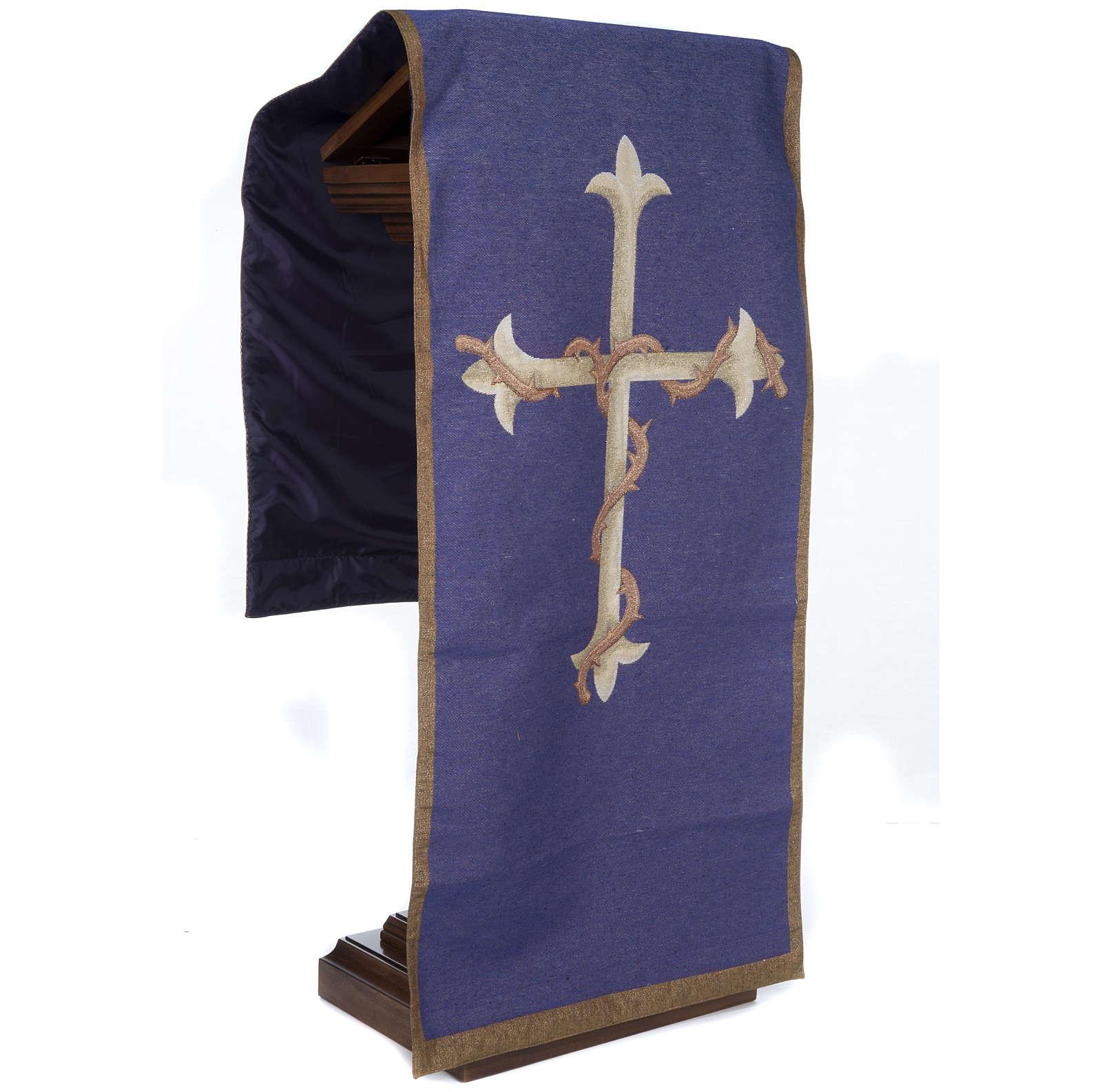 Voile d'ambon croix or, fond violet 4