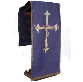 Voile d'ambon croix or, fond violet s4
