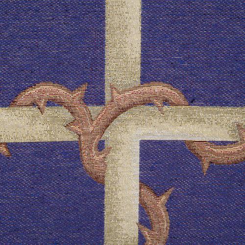Voile d'ambon croix or, fond violet 2