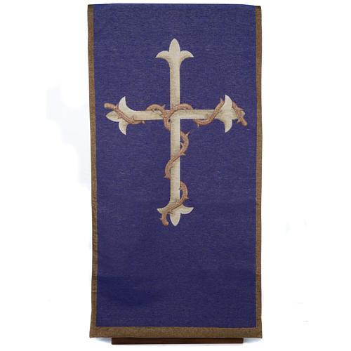Coprileggio Croce oro sfondo viola 1