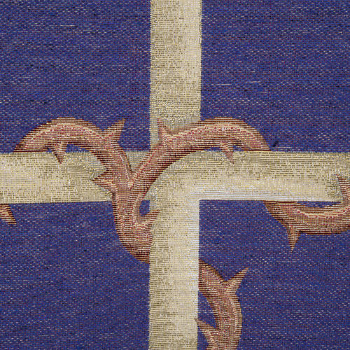 Pulpit cover, golden cross on purple background 2