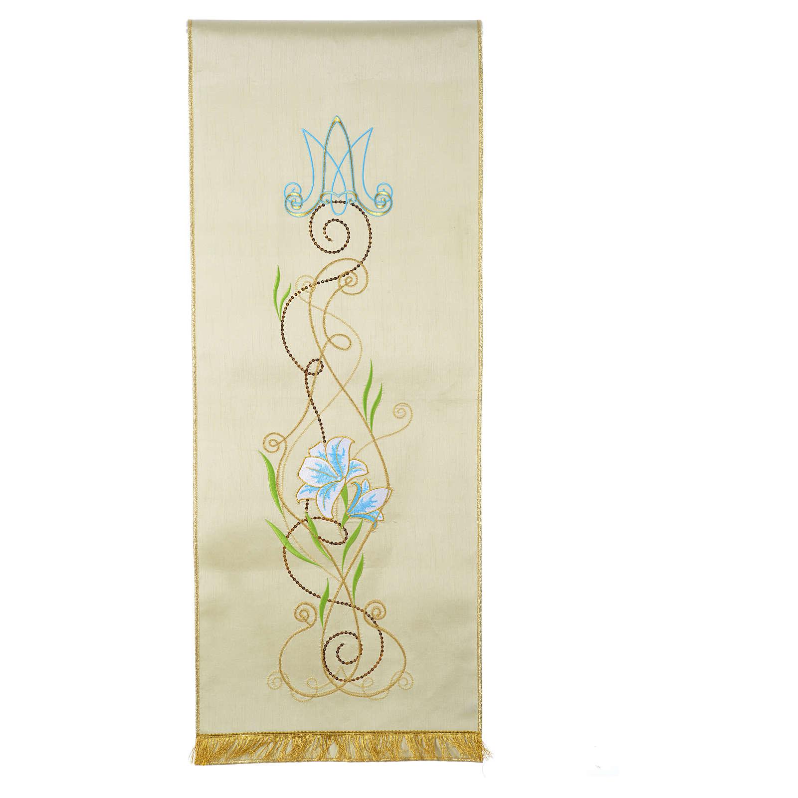 Voile de lutrin Marial shantung décoré avec fleurs 4