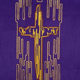 Coprileggio shantung croce stilizzata dorata s5