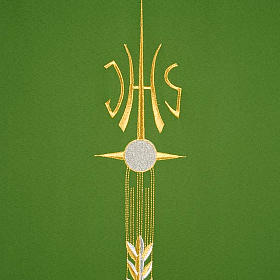 Lectern Cover, embroidered IHS, Holy Communion, wheat, grapes s9