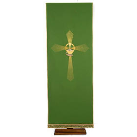 Lectern Cover, embroidered cross loaves and fishes s1