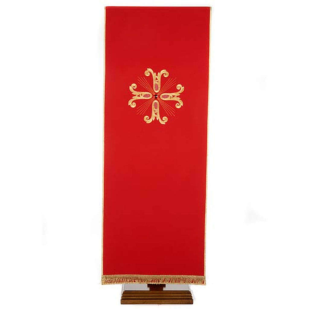 Lectern Cover, embroidered golden cross with glass bead 4