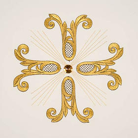 Lectern Cover, embroidered golden cross with glass bead s9