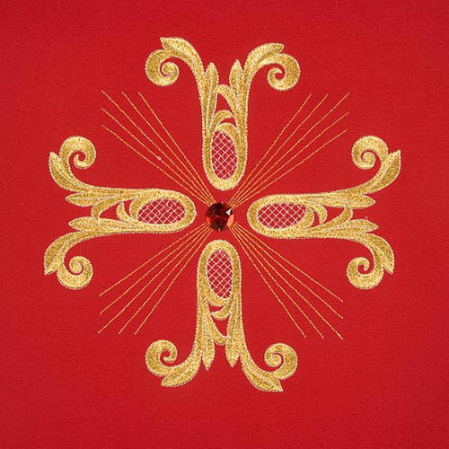 Lectern Cover, embroidered golden cross with glass bead 5