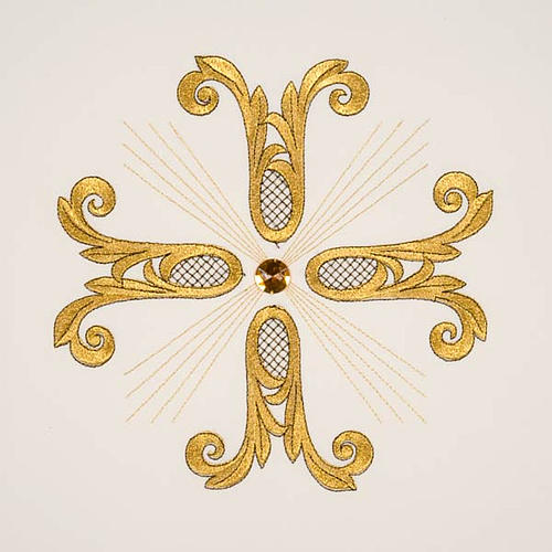 Lectern Cover, embroidered golden cross with glass bead 9