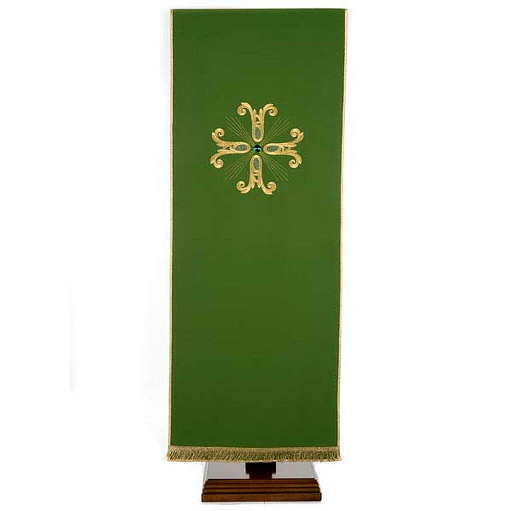 Voile de lutrin croix dorée perle en verre 4