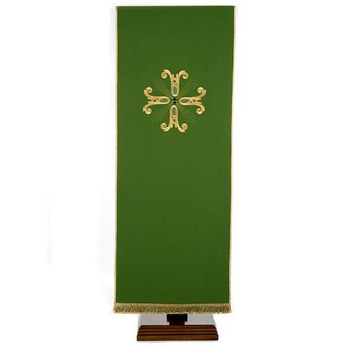 Voile de lutrin croix dorée perle en verre 1
