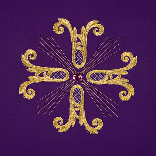 Voile de lutrin croix dorée perle en verre 7