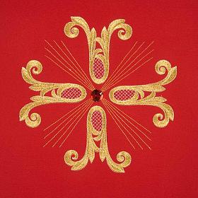 Coprileggio croce dorata perlina vetro s5