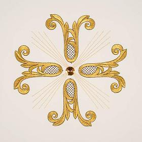 Coprileggio croce dorata perlina vetro s9