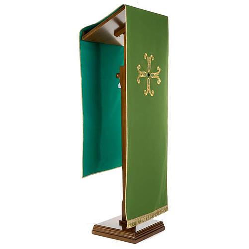 Coprileggio croce dorata perlina vetro 2