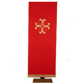 Gold cross pulpit cover with glass insert s4