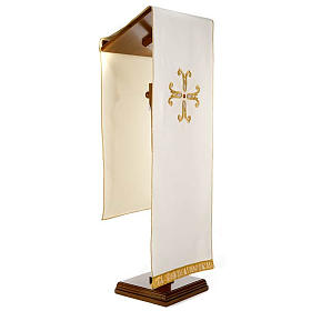 Gold cross pulpit cover with glass insert s8