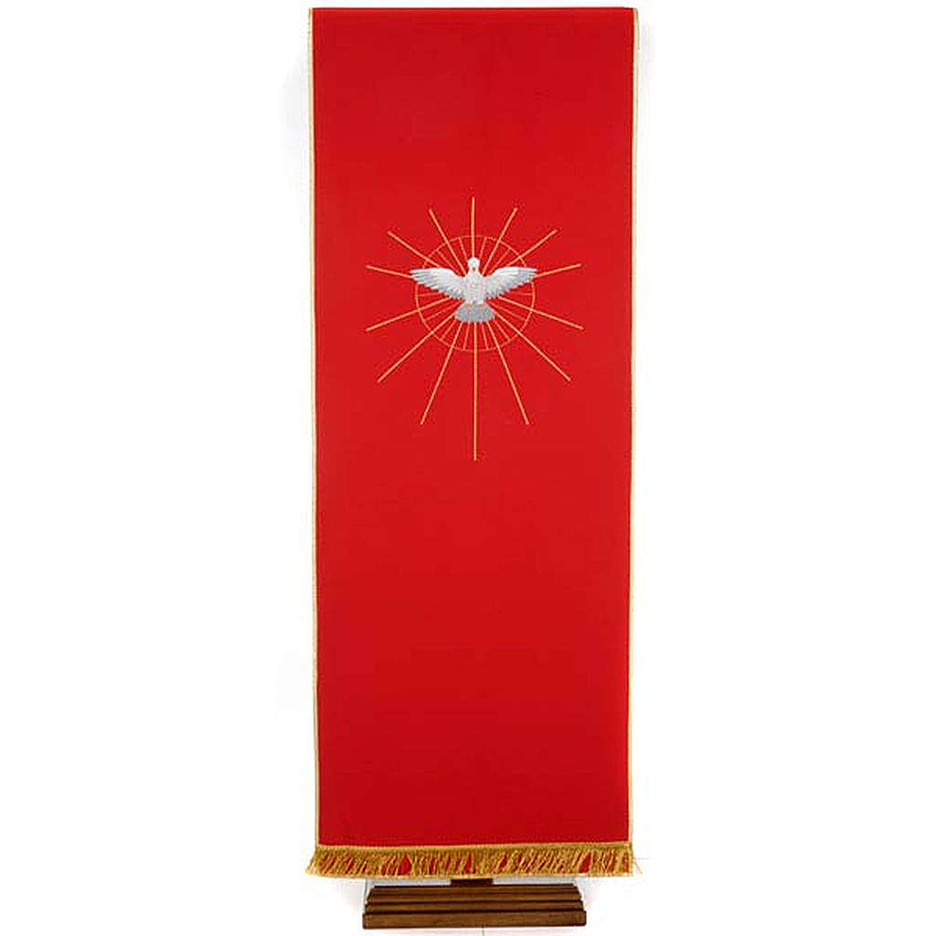 Red Holy Spirit pulpit cover 4