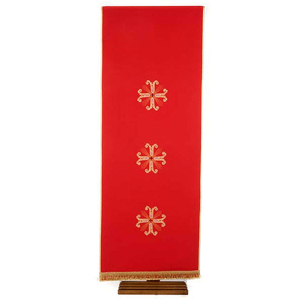 Lectern Cover, embroidered 3 golden crosses with glass beads 4