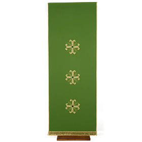 Lectern Cover, embroidered 3 golden crosses with glass beads s1