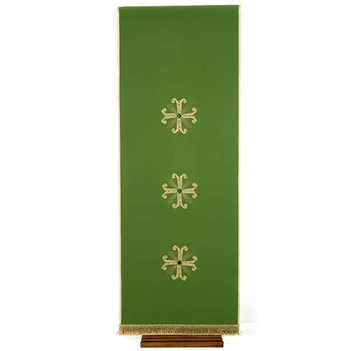 Lectern Cover, embroidered 3 golden crosses with glass beads 1