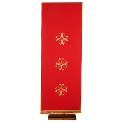 Lectern Cover, embroidered 3 golden crosses with glass beads 7